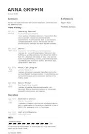 Objective Samples For Resumes by Incredible Veterinary Assistant Resume Samples