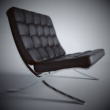 max barcelona chair black leather