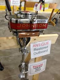 Cool Out Johnson At The Antique Outboard Motor Club Swap Meet In