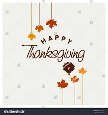 thanksgiving postcard template happy thanksgiving day typographic poster design stock vector