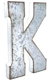 metal letters large hollow metal letters simple galvanized metal letter wall decor