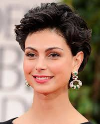 womans short hairstyle for thick brown hair very short hairstyles for round face woman with side bangs for