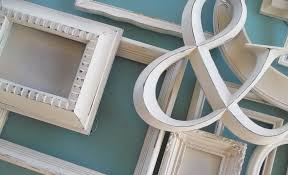 distressed creamy white gallery frame set farmhouse wall decor