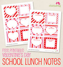 free printable valentine u0027s day lunch notes lunch notes