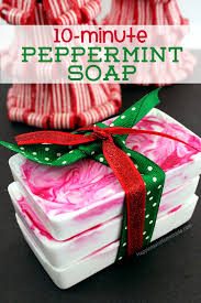 10 minute diy holiday gift idea peppermint soap peppermint soap
