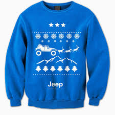 jeep christmas shirt threads blue ugly christmas sweater
