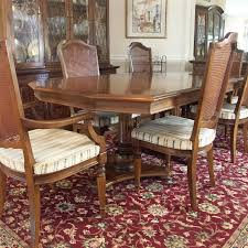 Ethan Allen Dining Room Ethan Allen Dining Table And Six Chairs Ebth