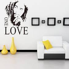 chambre bob marley reggae parrain bob marley one avatar décorative stickers