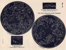 printable star constellation map 1942 vintage constellation map lithograph original vintage star