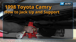 how to jack up and support 1998 03 toyota camry youtube
