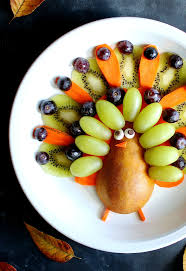 vegan turkey fruit platter allergy treats