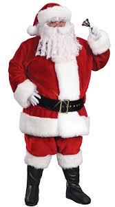 santa costumes plus size regency plush crimson santa suit christmas