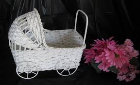 carriage centerpiece wicker baby carriage buggy table center baby shower