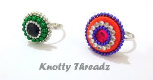 make rings images How to make silk thread finger rings jpg