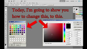 photoshop change the color picker youtube