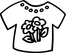 image gallery summer clothes clip art black white