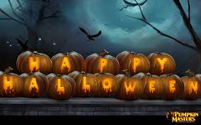 blue halloween background animated halloween wallpapers group 58