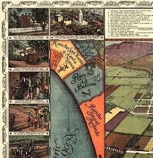 Birds Eye View Maps Los Angeles California As It Appeared In 1871 Bird U0027s Eye View