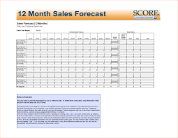 Income Projection Spreadsheet Sales Forecast Template Sales Forecast Spreadsheet Template