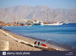 israel south district eilat sea front promenade young people
