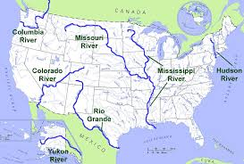 map usa rivers united states temperature cellular coverage road river map us