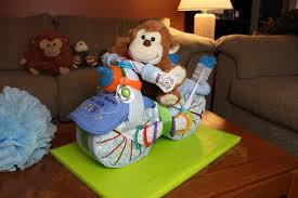 how to make a motorcycle diaper cake for boys youtube