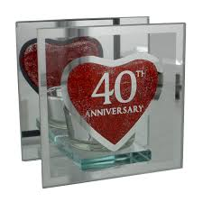 40 wedding anniversary gift 40th ruby wedding anniversary tea light gift candle holder