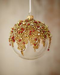 silverado gold glitter collection clear golden ornament