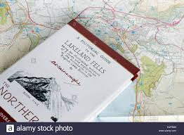 England On Map Wainwright Walking Guide To The Lake District Of Nw England On A