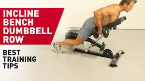 Dumbbell Exercises On Bench Incline Bench Dumbbell Row Prozis Tv Youtube