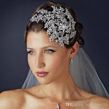 prom accessories uk wedding bridal rhinestone silver headbands tiara