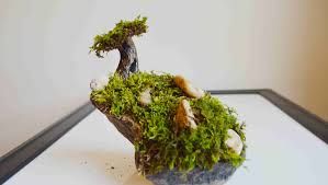 how to make a moss tree u0026 garden with polymer clay youtube