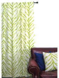 Zebra Curtain Panels Zebra Window Panel Lime And Cream Curtains By Ez Living Home