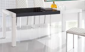 u0026 black finish modern extendable dining table w options