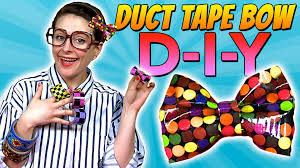 how to duct tape bow crafts for kids with crafty carol youtube