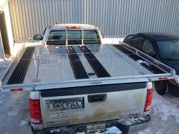 custom aluminum truck bed cover used as snowmobile deck flickr