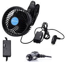 plug in car fan amazon com alagoo 12v 6 car fan automobile vehicle clip