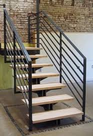 Metal Stair Rails And Banisters Modern Staircase With Zen Posts And Stainless Steel Spindles