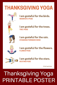 8 thanksgiving poses giving thanks to nature printable poster