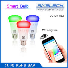 dc input e27 12v 6w color changing zigbee wifi smart led light