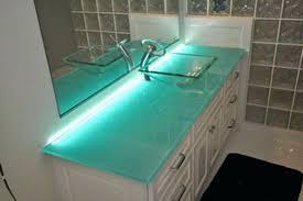 Glass Vanity Tops Fashionable Vessel Vanity Top Bathroom Vanities Wonderful Glass