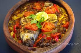 poisson au four à la marocaine cuisine marocaine orientale