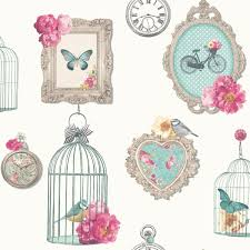 Floral Shabby Chic Wallpaper by Shabby Chic Floral Wallpaper In Various Designs Wall Decor New Ebay
