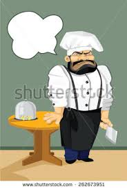 vector charismatic chef kitchen wearing apron stock vector
