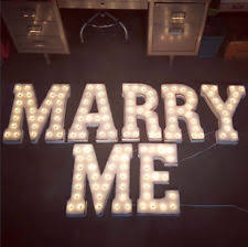 will you marry me signs in lights letters metal decorative outdoor signs plaques ebay