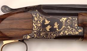 gold inlay engraving thierry duguet engraver engraved browning shotgun o u gold inlay