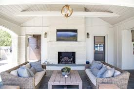 Vaulted Ceiling Tv Mount by Covered Patio Vaulted Ceiling With Fireplace Tv Transitional