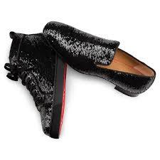 louis orlato men u0027s flat black silver glitter men shoes