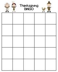 thanksgiving bingo template printable bingo cards crafthubs