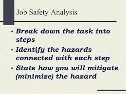 job safety analysis presentation nruozzi me